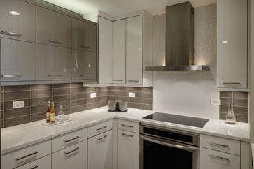 Modern Monochromatic Kitchen - Wheaton, IL - contemporary - Kitchen - Chicago - Drury Design