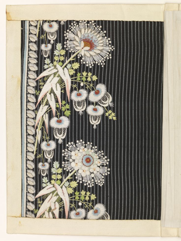Embroidery Sample (France), ca. 1770; silk, paper; H x W: 21.5 x 15.5 cm (8 7/16 x 6 1/8 in.); Museum purchase from Au Panier Fleuri Fund; 1932-1-16. Cooper Hewitt.