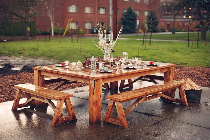 Square Picnic Table With Benches Plans Woodworking