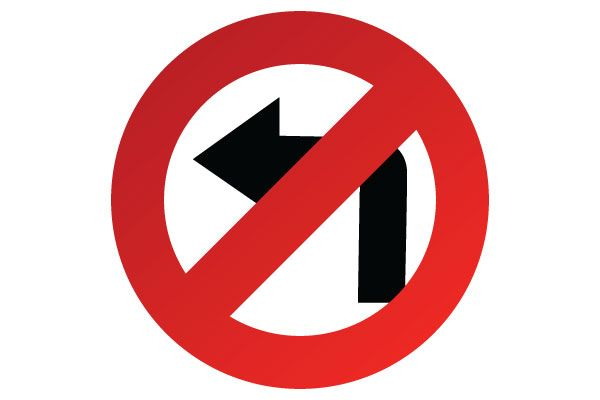 No Left Turn Sign | The Highway Code's Traffic Signs ...