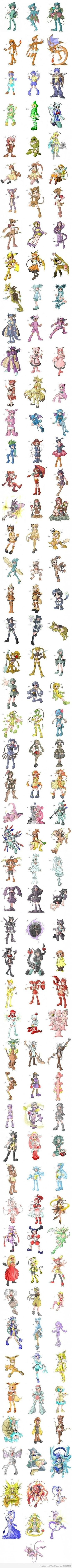 Pokemon original 150. Animé girls! Cute :)