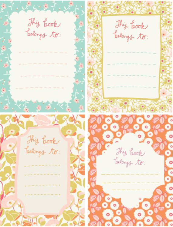 FREE printable bookplates for members {september roost tribe recap}
