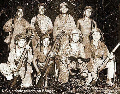 There were 400 Native American Marine Code Talkers in World War II from the Navajo, Cherokee, Choctaw, Lakota, Meskwaki and Comanche tribes. Code Talkers
