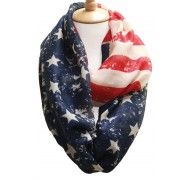 "Home of the Brave Infinity Scarf 100% Polyester 36"" x 36"""