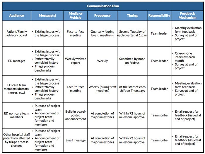 image result for communications plan template who what