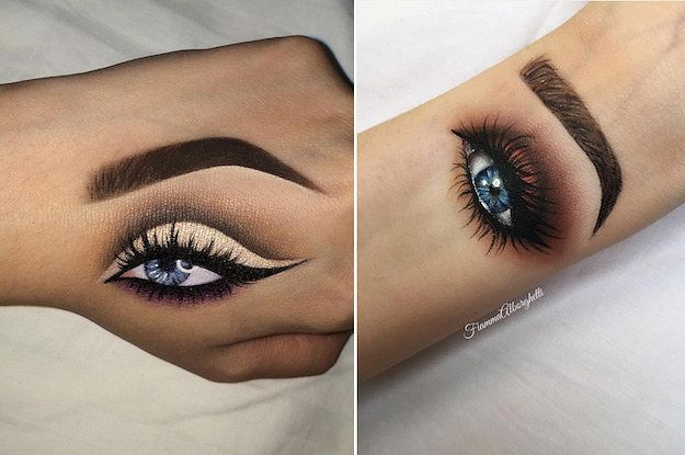 Because if you don't have the eyebrows you want, you can just draw them on your hand.