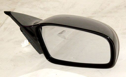 RH Door Mirror Power Heated Gloss Black Non-Folding Eclipse 2000-2005