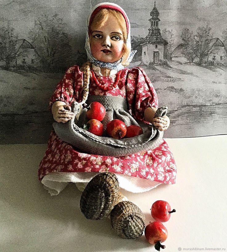 """Купить Текстильная кукла """"ЯБЛОЧНЫЙ СПАС"""". Тедди-долл - ярко-красный, текстильная кукла"""