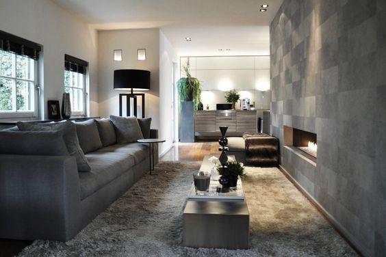Meridiani sofa and lamp - Elitis wallpaper: