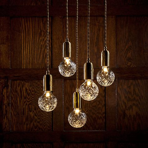 Clusters of Lee Broom clear crystal bulbs would create a striking and elegant lighting feature in a traditional kitchen #kitcheninspiration