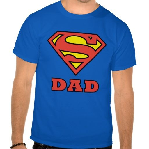 Super #Dad Blue Tee Shirt by #Superman #fathersday