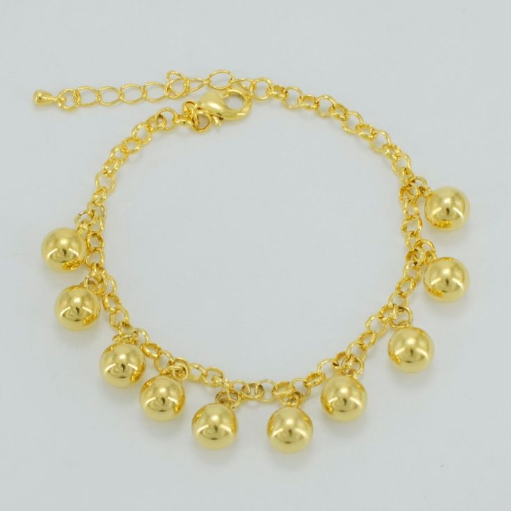 Gold Plated Round Beads Bracelets Ethiopian Jewelry