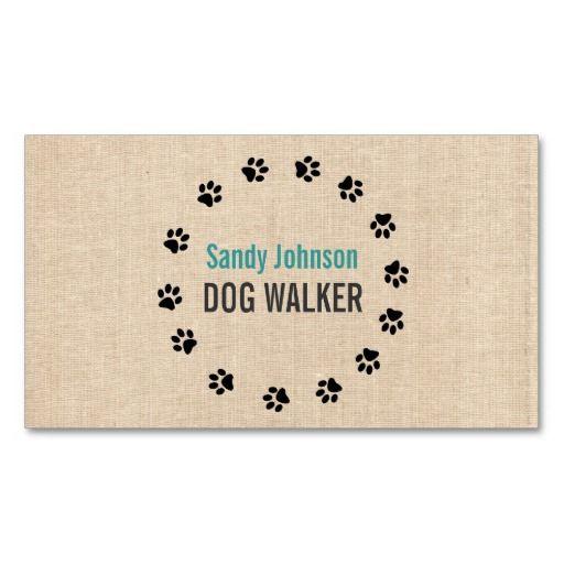 Dog Walker Walking Pet Sitting Services Business Business Cards