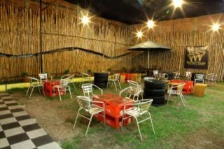 Beer Garden at Bamboo House - Jakarta, Indonesia.