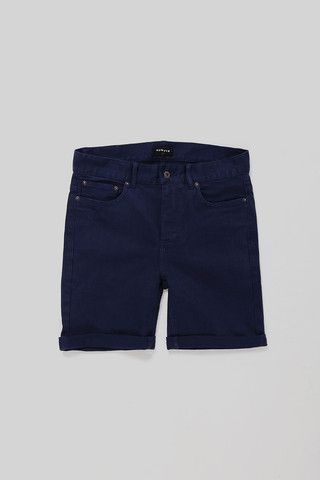 Huffer - Work Slim Shorts - Dark Denim