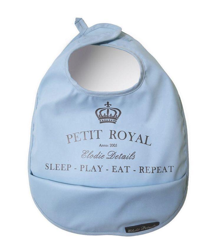 Baby Bib - Elodie Details Petit Royal Blue - Sleep, Play, Eat Repeat - Baby Luno