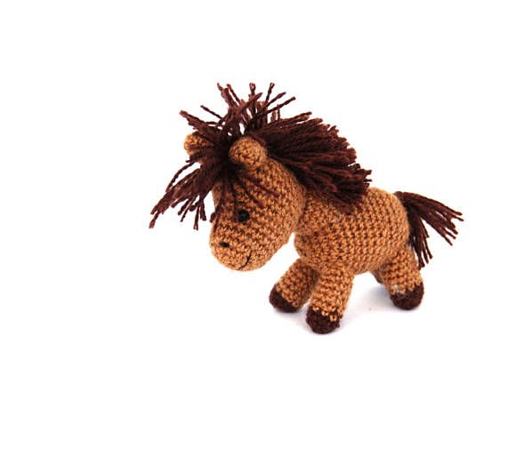 amigurumi horse, crochet horse miniature, horse toy, gift for boy, stuffed horse mini, #tiny horse doll, #farmanimal doll, #collectible horse