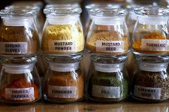 Organizing your spice bottles
