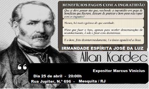 Irmandade Espírita José da Luz Convida para a sua Palestra Pública - Mesquita - RJ - http://www.agendaespiritabrasil.com.br/2016/04/25/irmandade-espirita-jose-da-luz-convida-para-sua-palestra-publica-mesquita-rj-6/
