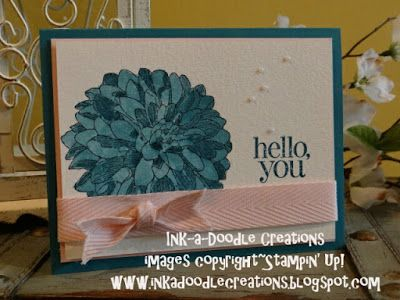 stampin up regarding dahlias, Friday mashup, water coloring, ink a doodle creations, handmade cards