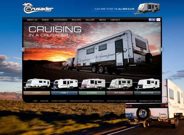Crusader Caravans WordPress website