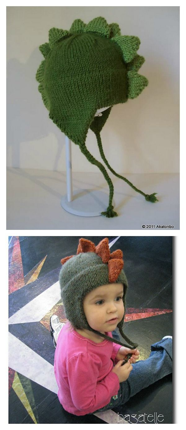 Toddler Kids Girl/&Boy Baby Crochet Knit beanie cap dinosaur trex stegosaurus
