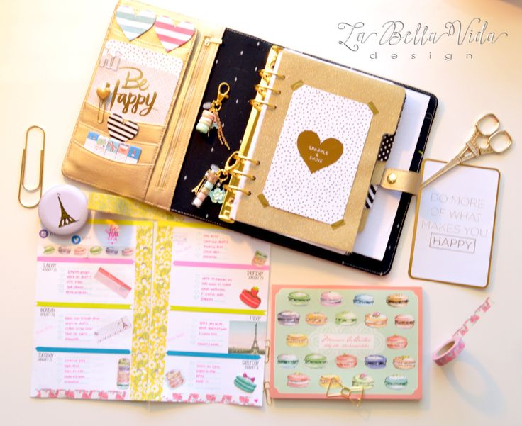 La Bella Vida Design — Let's Make A Beautiful World! My 2015 Limited Edition Gold Kikki K Planner Set Up
