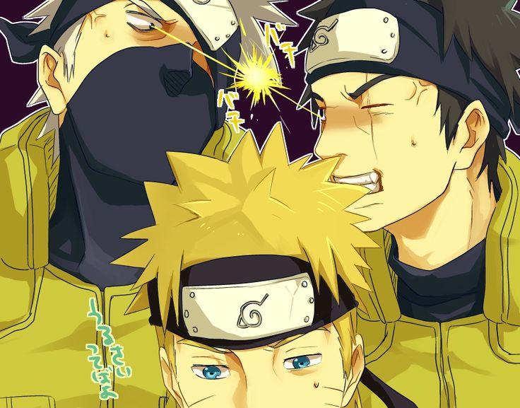 Tags: Fanart, NARUTO, Uzumaki Naruto, Hatake Kakashi, Pixiv, Uchiha Obito, Fanart From Pixiv, Pixiv Id 4144373