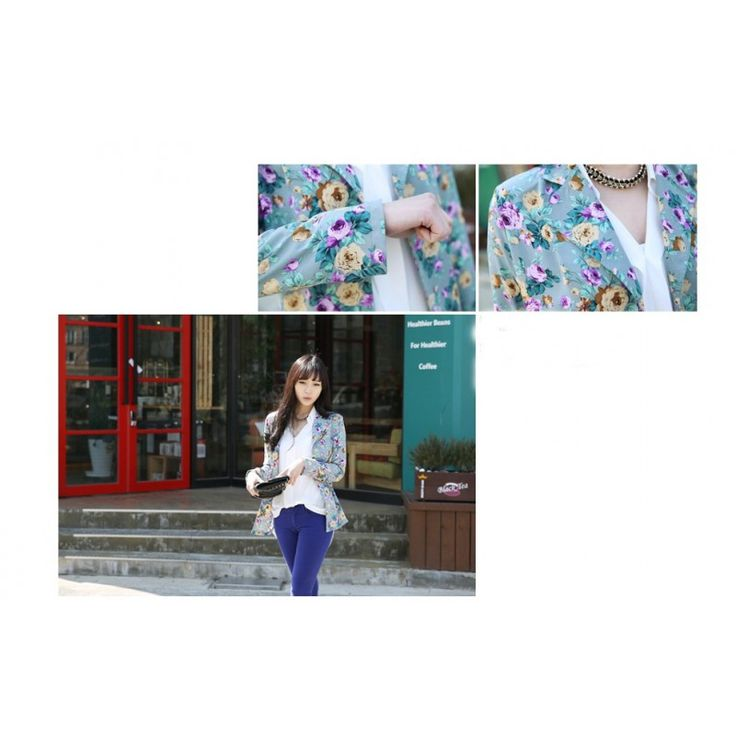 Blue Floral Cardigan JK355 Condition  New  Length- 68cm Sleeve- 57cm Bust- 48 * 2cm Waist- 43 * 2cm Shoulder- 38cm Retail IDR156,000	Reseller IDR117,000	Wholesaler IDR97,500