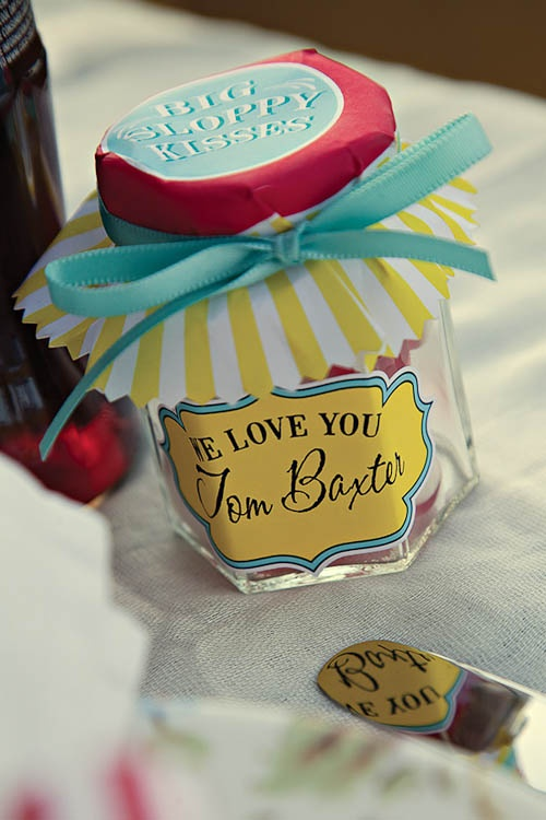 Fun fairground wedding favours idea.