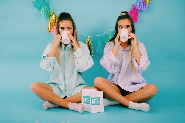 Twins Teatox Together 'Love the way #skinnymetea makes us feel first thing in the morning! It's amazing we love it ☕️' - Tess & Sarah Behannon of @ tess_and_sarah // umm you're amazing girls & we love you!