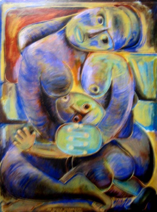 He Aroha Whaere, He Potiki Piri Poho by Robyn Kahukiwa