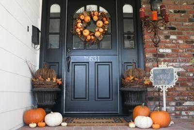 Autumn Porch Decorating