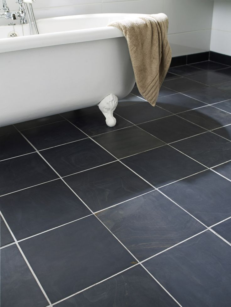 Honed Black Slate 30x30cm Tile Topps Tiles Bathroom