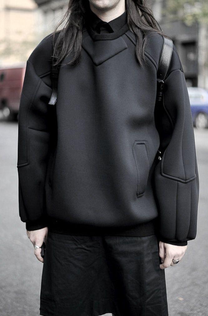 Padded Neoprene Pullover