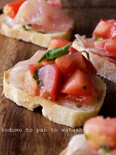 大葉とトマトのブルスケッタ風 by saza8225さん | レシピブログ - 料理 ...