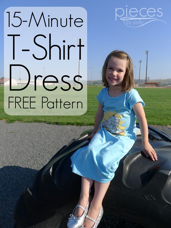 Turn Any Adult T Shirt Into A Child S Dress This Looks