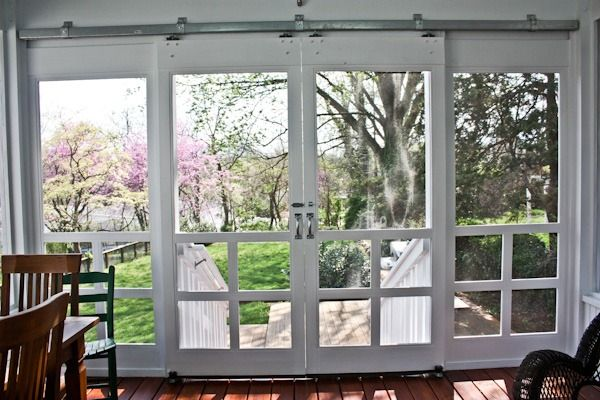 sliding screen deck doors. Would be perfect for the enclosed space that opens to the 3 wide stairs to the lower level