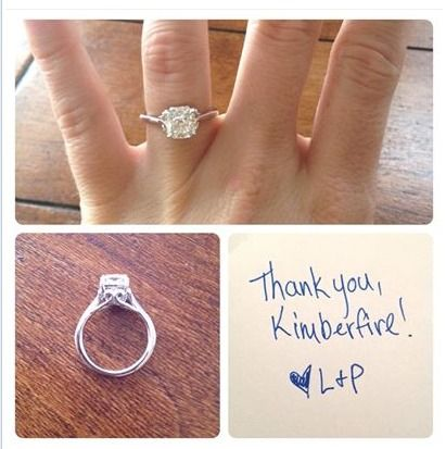 """""""Thank you, Jonathan and Kimberfire, for helping Patrick Duncan create this unique & beautiful ring. I love it!"""" - L.V."""