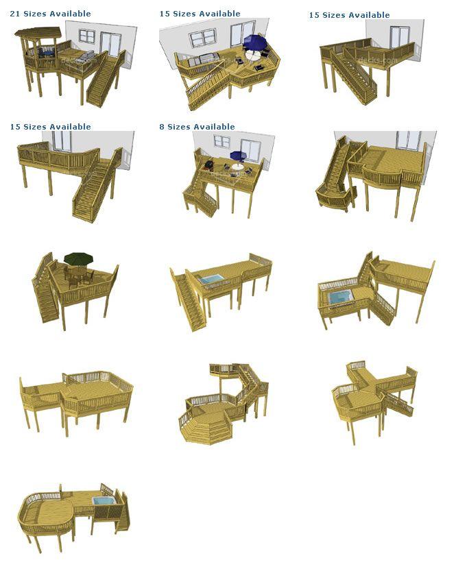 Deck Plans - High Level   Raleigh Durham Fences, Decks & Screened Porches