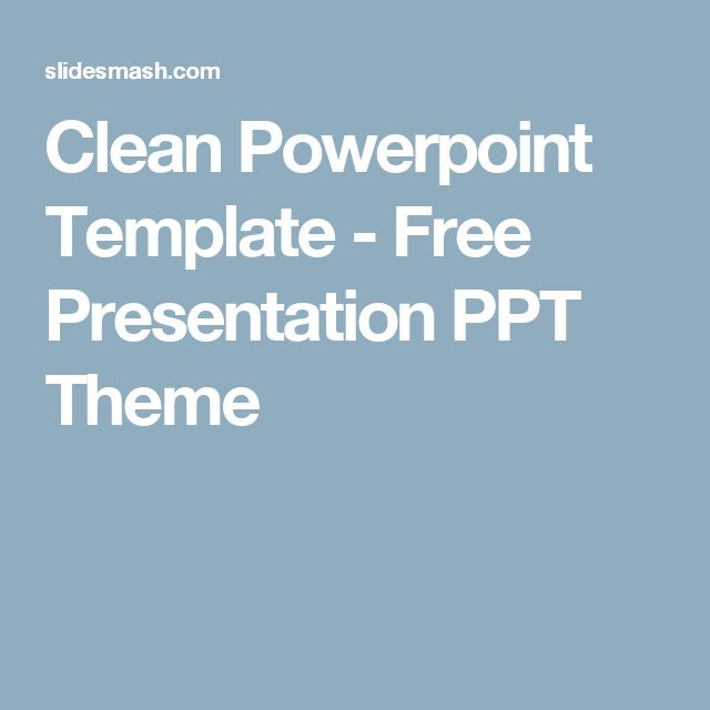 Clean Powerpoint Template - Free Presentation PPT Theme