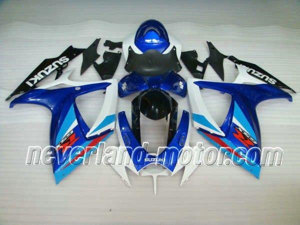 SUZUKI GSX-R 600/750 2006-2007 K6 ABS Fairing - Blue/White-2006-2007 K6 #2007gsxr750fairings #07gsxr750fairings #2007SUZUKIgsxr750fairings