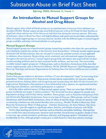 An Introduction to Mutual Support Groups for Alcohol and Drug Abuse