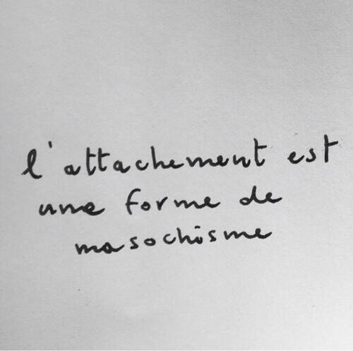 Et je ne suis pas masochiste .