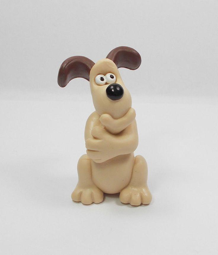 Wallace & Gromit - Gromit - Mini Toy Figure - Aardman 1989 - Cake Topper