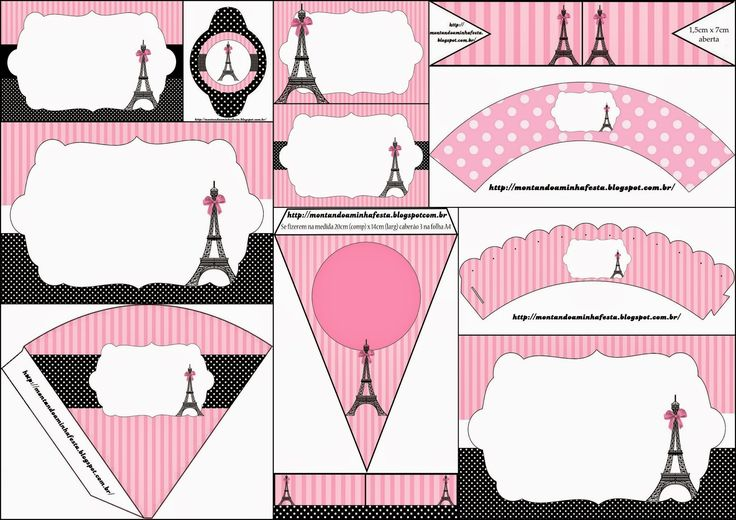 Paris: Invitations and Free Party Printables.