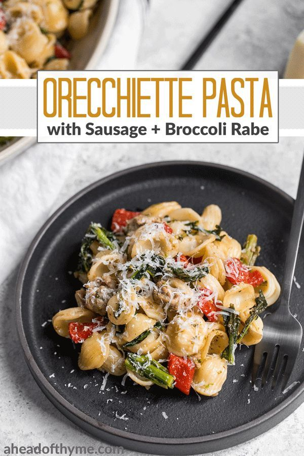 Orecchiette Pasta With Sausage Broccoli Rabe And Roasted Red Peppers Recipe Sausage Pasta Stuffed Peppers Easy Pasta Recipes
