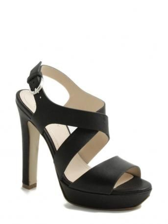 LeCrown-sandalo zeppa nero-sandal platform black-LeCrown shop online
