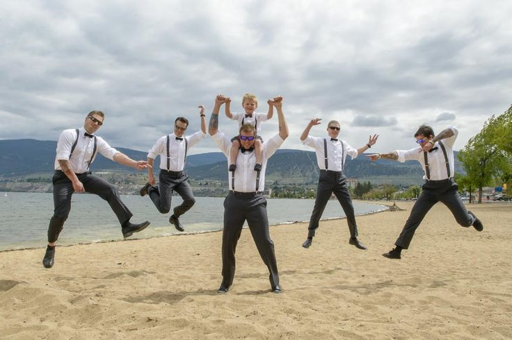 Fun photos, on Penticton beach, beside Okanagan Lake. The wedding ceremony was held at Painted Rock Winery. The wedding reception was held on board the SS Sicamous Stern Wheeler, Penticton.