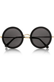 The Row Round-frame acetate and metal sunglasses | NET-A-PORTER
